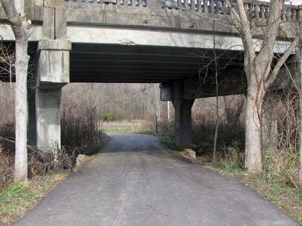 Path going under Hwy 100