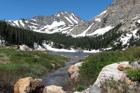 View from Pear Lake outlet