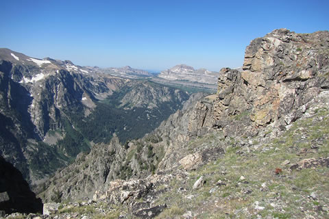 View into Death Canyon