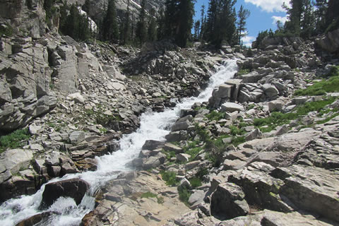 Cascade adjacent to the trail