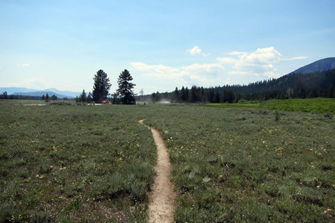Nearing Lupine Meadows Road and the dust