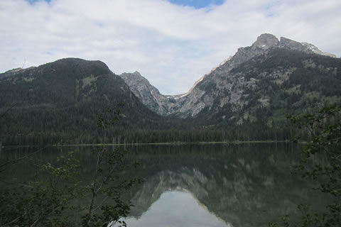 View from Taggart Lake into Avalanche Canyon