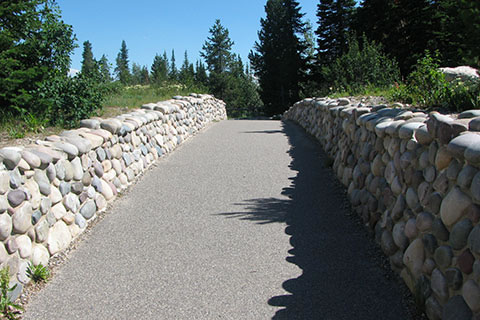 Paved paths in Jenny Lake visitor area