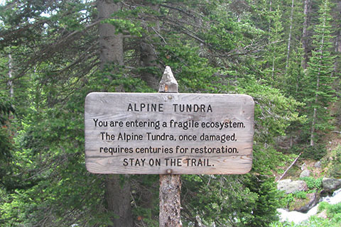 Alpine Tundra Sign