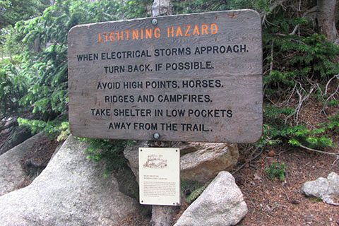 Hazards sign