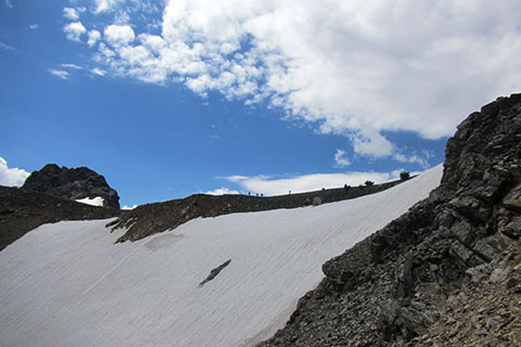 The snow of the Upper Canyon