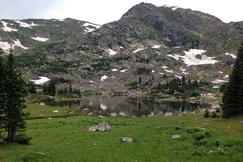 Haynach Lake with Peak 12,057'