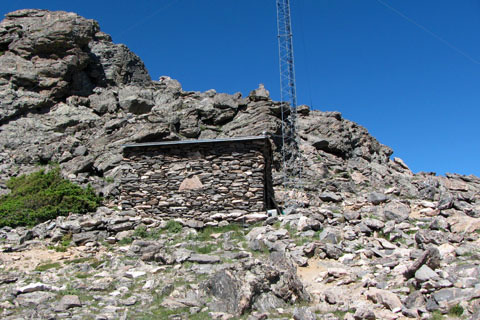 stone building at the saddle