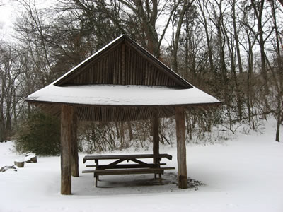 Shelter at Owl Hollow Trailhead