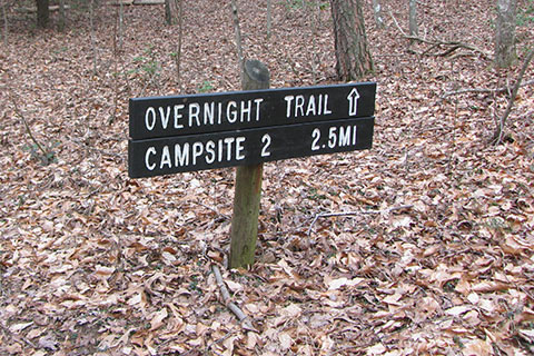 Overnight Trail Sign