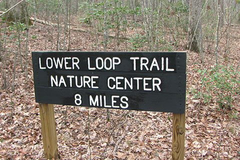 Lower Loop trail sign