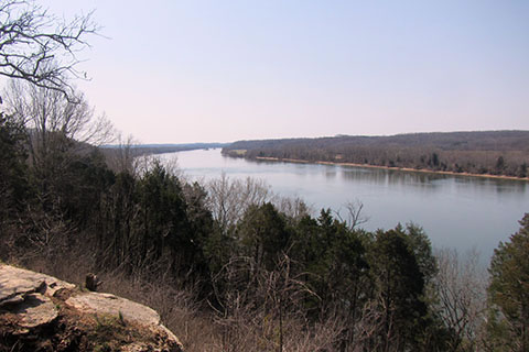 View of the Tennessee River from Shelter 2