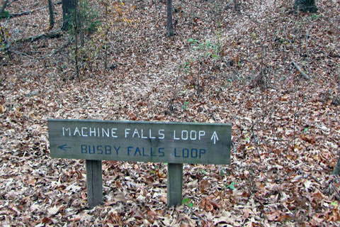 Busby Falls Sign