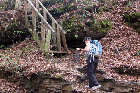 stairs at Bobo Creek