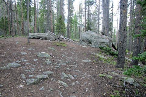 Rest boulders along the trail