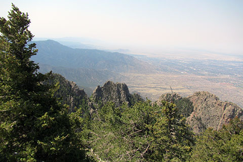 view from the summit of Sandia Crest